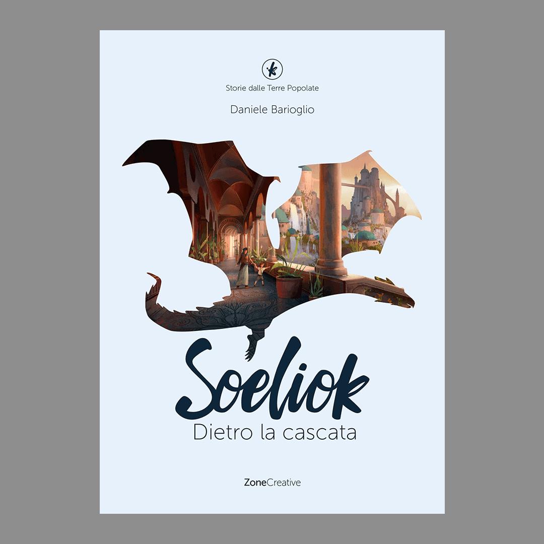 Copertina italiana libro 3 di Soeliok: dietro la cascata