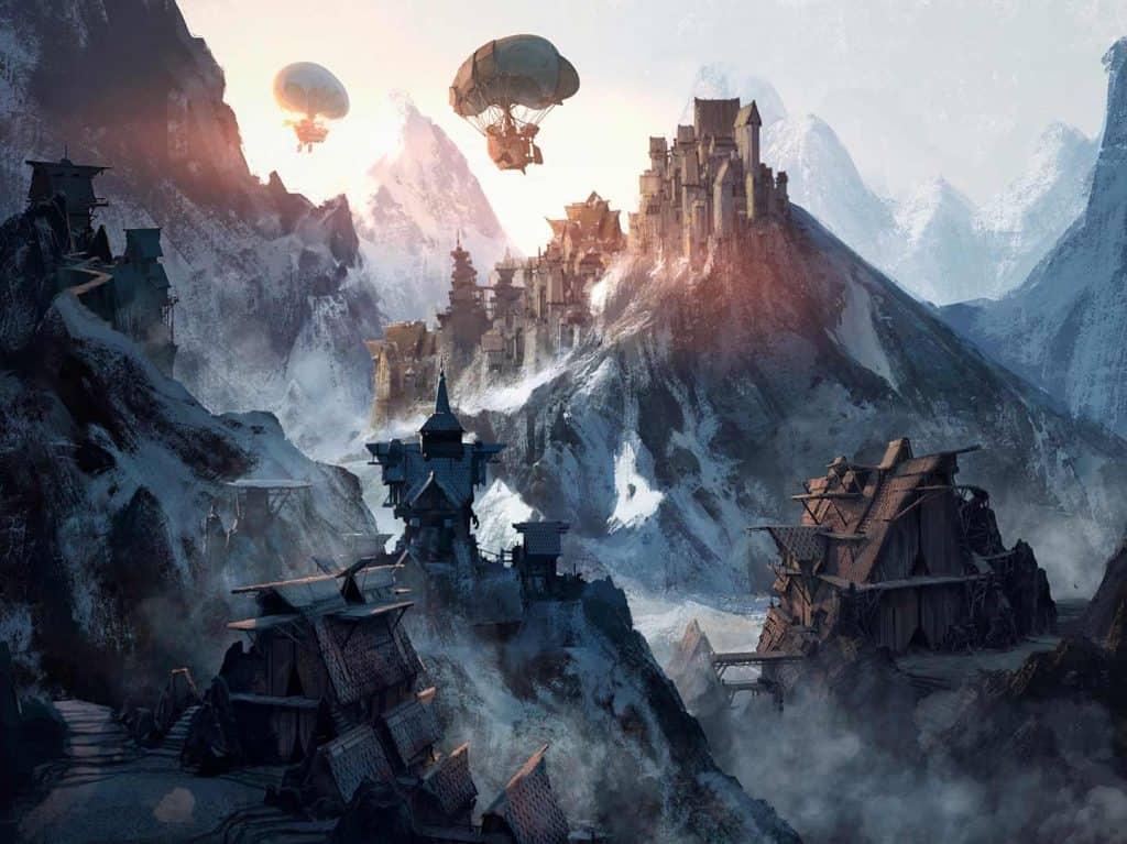 illustrazione di Fiorderik, la città sulle montagne