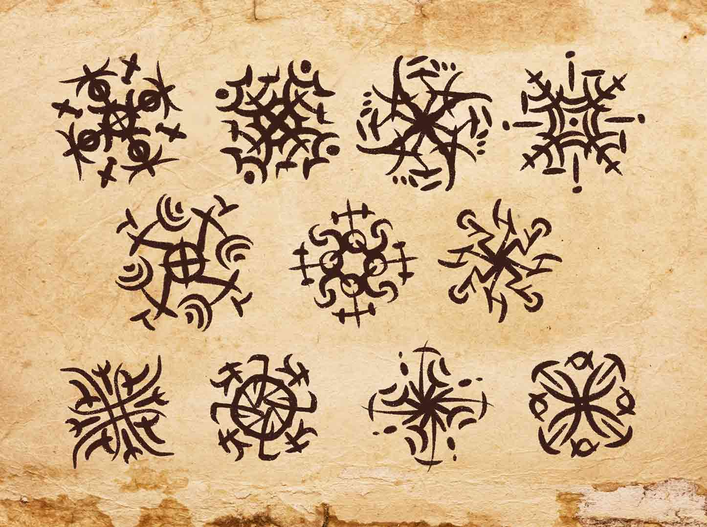 reperto su pergamena che mostra la lingua parlata degli orkran